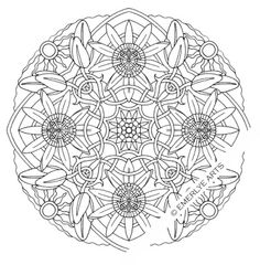 """""""Passion Flower"""" mandala coloring page"""