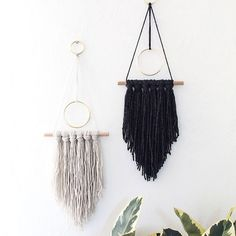 Dress up your wall with this chic and modern yarn art!