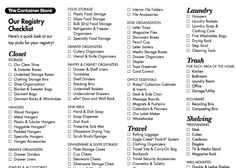 Basic wedding registry checklist the mr mrs pinterest wedding registry checklist from the container store junglespirit Images