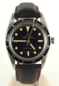 Vintage Rolex 6202 Turn O Graph Watch 1953 Gilt Dial Pre Submariner