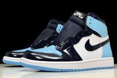 bafd9349d874b3 Air Jordan 1 Retro High OG UNC Patent Obsidian Blue Chill-White CD0461-401-5