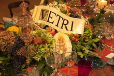 Bulgari Bouquet for a Dinner in Venice #murano, #glass, #hand, #engravings, #venice, #planner, #studio  Matteo Corvino