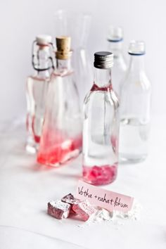 Rose Turkish Delight (rahat) Vodka - recipe what what!? rose vodka?? i know what i'm doing this weekend!