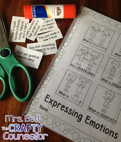 Get kids talking and expressing their emotions with this interactive cut and glue activity!!!