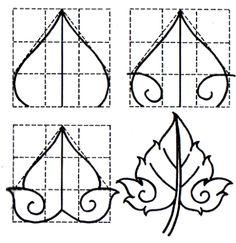 Basic Pattern of Thai Ancient Art Work Hand Writing Practice