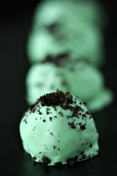 mint oreo truffles-- Devine, even though I broke my chocolate. LoL