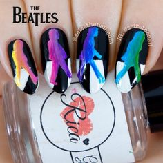 .@Erin Duncan Ritchey | My Abbey Road nails without the contest note!   | Webstagram
