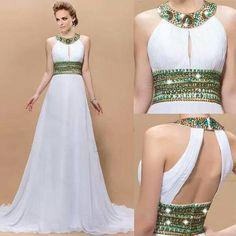 Green Beaded Prom Dress,Backless Prom Dress,Fashion Prom Dress,Sexy Party Dress,Custom Made Evening Dress Elegant Dresses, Pretty Dresses, Beautiful Dresses, Dream Dress, Dress Skirt, Dress Up, Evening Dresses, Prom Dresses, Formal Dresses