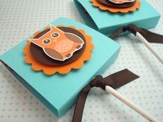 Simple Tastes Lollipop Favors Owl Lollipops