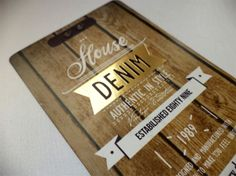 Denim Swing Tag & Label ///part A by Anna Maja Czech, via Behance
