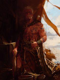 Celtic Warrior, Michał Sztuka on ArtStation at https://www.artstation.com/artwork/LBPx0