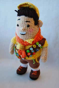 Russell from Up inspired amigurumi crochet by Allison Hoffman :)