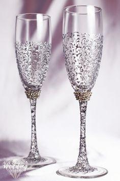 OLIVIA RIEGEL Swarovski Crystal Windsor Champagne Toasting ...