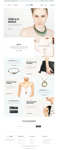 Buy ePro - Premium OpenCart Template by Nine-Themes on ThemeForest. ePro is an advanced OpenCart theme fully customizable and suitable for e-commerce websites of any purpose. Site Inspiration, Banner Design Inspiration, Ecommerce Web Design, Ecommerce Websites, Ecommerce Template, Banner Site, Jewelry Banner, Jewelry Stores, Jewelry Websites