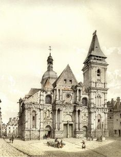 Church of St-Remy-de-Dieppe, Normandy, France, 1860. | Quebec, a family history