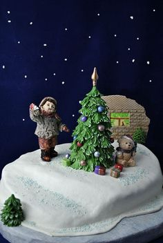 """Новогодний торт """"Неужели и ко мне Дед Мороз приходил??"""""""