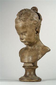Sculpture presumed to be Madame de Pompadour's daughter, Alexandrine Lenormant d'Etiolles, third quarter 18th C by Jacques Francois Joseph Saly (1717-1776)