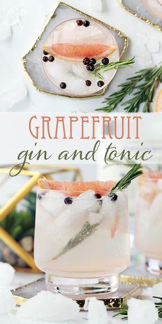 Grapefruit Gin and Tonic