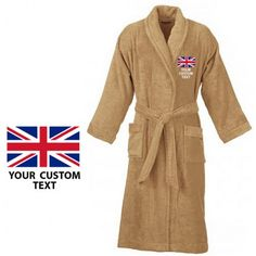 Your #country_flag and custom text #Embroidery logo #TERRY_towel_fabric #bathrobe