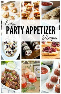 Easy Party Appetizer Recipes - over 25 recipes to help you prepare for your next party! Everything from mini taco cups to whipped feta and chicken wings!