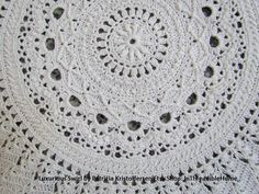 Luxurious Swirl Crochet Table Topper .pdf by InThreadibleHome