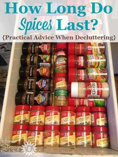 Pratical advice for how long do spices last when taking on this decluttering project in your kitchen {on Home Storage Solutions Pantry Storage, Pantry Organization, Food Storage, Spice Storage, Organizing Tips, Hm Home, Clutter Control, Home Storage Solutions, Homemade Spices