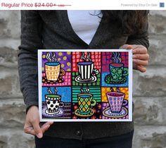 Surprise 50% Off Sale Coffee Cups Art Kitchen by HeatherGallerArt