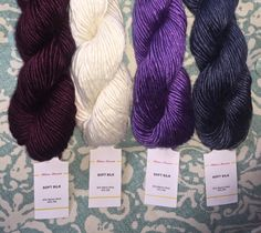 Filatura Lanarota SOFT SILK in 4 Colors Maroon by HollyPKnits