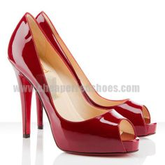 Christian Louboutin Very Prive 100mm Patent Red