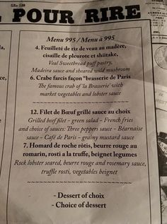 Brasserie de Paris, Hua Hin - Restaurant Reviews, Phone Number & Photos - TripAdvisor Menu, Restaurant, Filets, Trip Advisor, Filet Of Beef, Brewery, Menu Board Design, Diner Restaurant, Restaurants