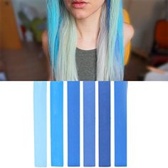 Ultimate Blue Miley Cyrus Ombre Hair Dye Set  6 Shades of Blue Navy Azure Hair Color  SEAFOAM Hair Chalk  With Shades of Ocean Blue Turquoise Mint and Green Pastel Set of 6 Hair Color  Color your Hair Blue Ombre in seconds with temporary HairChalk ** Want to know more, click on the image.
