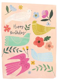 Leading Illustration & Publishing Agency based in London, New York & Marbella. Best Birthday Wishes, Happy Birthday Messages, Happy Birthday Images, Birthday Pictures, Birthday Greeting Cards, Birthday Greetings, Birthday Card Design, Happy B Day, Wallpaper Iphone Cute