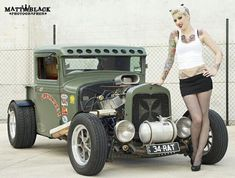 The Holunder Hannover by SommerPhotography on DeviantArt Rat Rod Girls, Car Girls, Pin Up, Up Auto, Auto Jeep, Rockabilly Cars, Hot Rod Trucks, Dually Trucks, Chevy Trucks