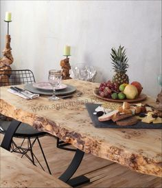 Mazel ağaç yemek masası. Poplar massive wood table