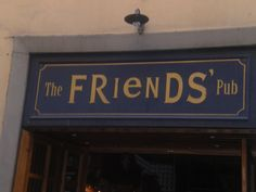 "Florence Italy ""the Friends' pub"""