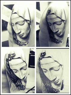 Mary tattoo by JK