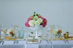Adventures in Dressmaking: Wedding decor: milk glass vases