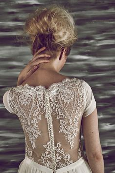 Win £1000 Towards Your Wedding Dress With Churchgate Porter | Love My Dress® UK Wedding Blog >> http://www.lovemydress.net/blog/2015/03/win-1000-towards-your-wedding-dress-with-churchgate-porter.html Maria Senvo wedding dress with cami top and spaghetti sleeves, available at Churchgate Porter.