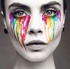 stained glass eyes & colorful tears