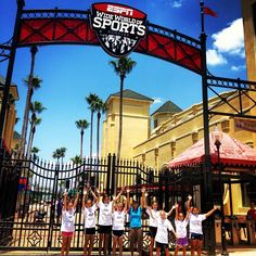 Choose to Matter winners having fun with Julie at ESPN Wide World of Sports at Disney World