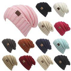 35dfa198ce7 Toasty Wool Knit CC Beanie Warm Hat Women s Knit Beanie Hats