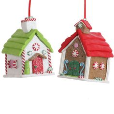 Shelley B Home and Holiday - RAZ Gumdrops and Jellybeans 3 Inch Gingerbread House Ornaments set of 2, $9.80 (http://shelleybhomeandholiday.com/raz-gumdrops-and-jellybeans-3-inch-gingerbread-house-ornaments-set-of-2/)