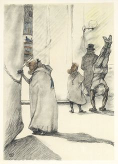 """I love this one especially - Toulouse-Lautrec lithograph   Circus """"Dans les coulisses"""""""