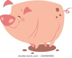 Vector illustration of a cute pig Pig Illustration, Illustrations, Pig Drawing, Cute Pigs, Piggy Bank, Hello Kitty, Cartoon, Children, Drawings