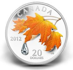 Canadian Sugar Maple Coin. Just beautiful! Love my homeland's creative currency!