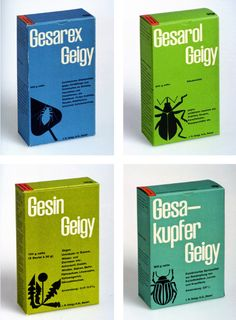 Mid-century package design for Pesticides. Swiss artist Fred Troller for Geigy Corp. Cool Packaging, Brand Packaging, Packaging Design, Branding Design, Packaging Ideas, Soap Packing, Brand Manual, Swiss Design, Information Graphics