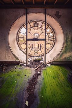 Matthias Haker Photography Clock Tower in an Abandoned Hospital