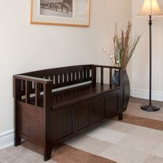 Add an elegant functional furniture piece to your entryway or any other room in the home with the Normandy Entryway Storage Bench. This sturdy and stylish bench offers convenient seating for putting on shoes.