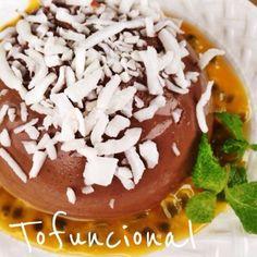 Tofuncional - pudim de chocolate