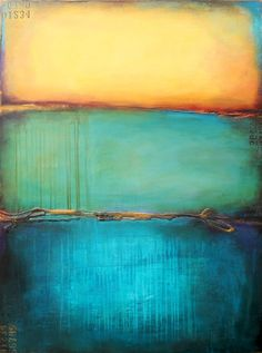 "Originally re-pinned with the existing label ""Rothko"" - Now I find it labeled ""Emerald Bay"" by Erin Ashley in Florida. Sorry for the mistake."